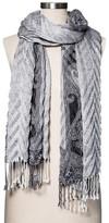 Merona Fashion Scarves Jacquard Black/white