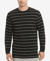 Polo Ralph Lauren Men's Stripe Waffle-Knit Crew-Neck Thermal Top