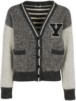 Saint Laurent Flecked Varsity Cardigan
