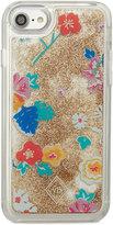 Vera Bradley Santiago Floral Liquid Glitter iPhone 7 Case