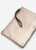 MANGO Metallic leather cosmetic bag