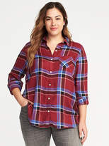 Old Navy Classic Plus-Size Drapey Flannel Plaid Shirt