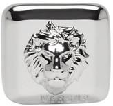 Versus Silver Square Lion Head Ring