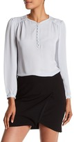 Rebecca Taylor Long Sleeve Button Front Silk Bouse