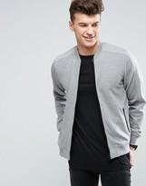 Threadbare Ribbed Zip Through Jacket