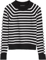 Banana Republic Petite Stripe Cotton-Blend Cropped Sweater