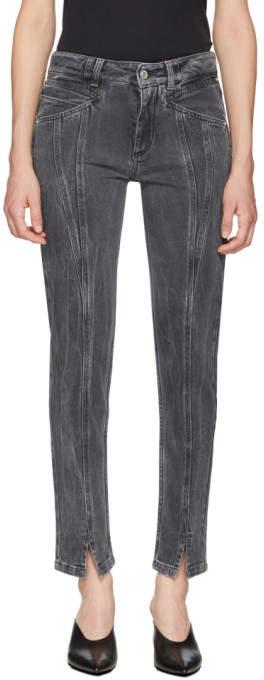 Givenchy Grey Skinny Fit Lightning Jeans