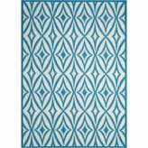 """Waverly Sun & Shade """"Centro"""" Azure Indoor/Outdoor Area Rug by Nourison"""