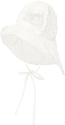Maison Michel Julienne Embroidered Waterproof Pvc Hat