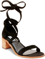 Steve Madden Women's Rizza Lace-Up Block-Heel Sandals