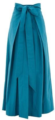 Kalita Avendon Tie-waist Cotton Maxi Skirt - Green