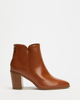 Spurr Women's Brown Heeled Boots - Jimmy Ankle Boots - Size 5 at The Iconic