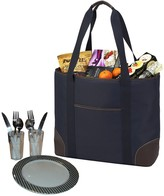 Large Insulated Picnic Tote for Two - Navy