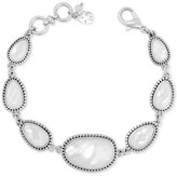 Lucky Brand Silver-Tone Mother-of-Pearl-Look Link Bracelet