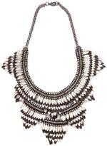 Deepa Gurnani Feather Bib Necklace