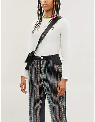 BAPY Contrast-trim stretch-cotton T-shirt