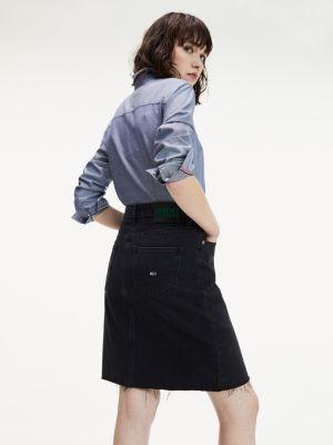 Tommy Hilfiger Longer Length Recycled Denim Skirt