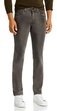 Paige Croft Skinny Fit Jeans in Slate Rock Coated