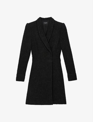 The Kooples Suit jacket-style tweed midi dress