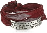 "Alisa Michelle Mean Girls"" Official Movie Regina George Stamped Silk Wrap Bracelet, 28.0''"