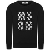 MSGM MSGMGirls Black Polka Dot Logo Sweater