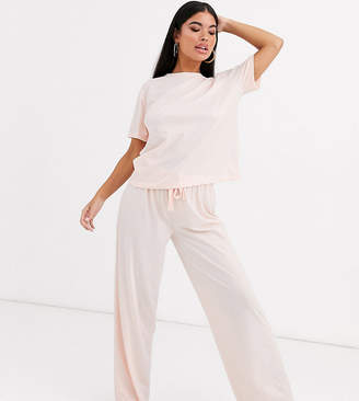 Asos DESIGN Petite mix & match jersey trouser-Beige