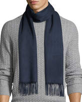 Neiman Marcus Cashmere Solid Fringe Scarf