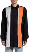 Marcelo Burlon County of Milan Men's Stripes Button-Front Sport Shirt