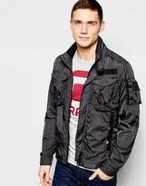 G-star Overshirt Jacket Rovic Nylon In Raven Overdye