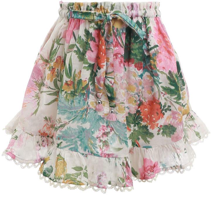 Zimmermann Heathers Flounce Skirt