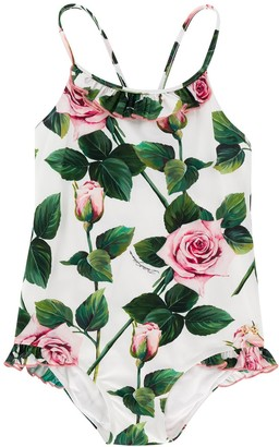 Dolce & Gabbana Kids Rose Print Swimsuit