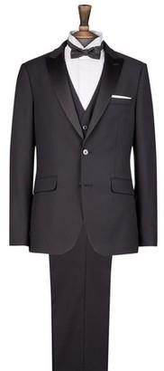 Dorothy Perkins Womens **Burton Black Stretch Slim Fit Tuxedo Suit Jacket, Black