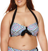Arizona Diamond Fantasy Bralette Swim Top - Juniors Plus