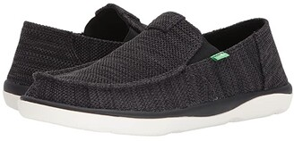 Sanuk Vagabond Tripper Mesh (Black) Men's Slip on Shoes