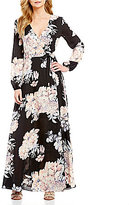 Gianni Bini Rotar Bloom Floral Wrap Dress