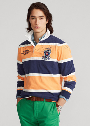 Ralph Lauren Classic Fit Striped Jersey Rugby Shirt