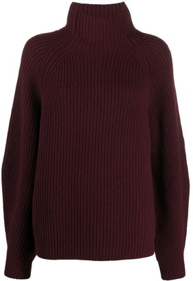 In The Mood For Love Ribbed Funnel-Neck Jumper