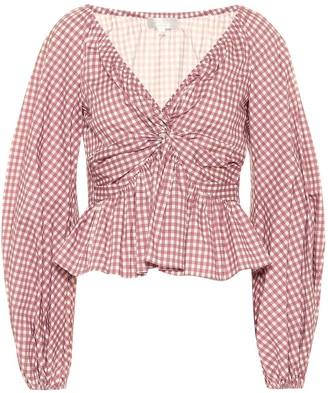Caroline Constas Onira gingham cotton top