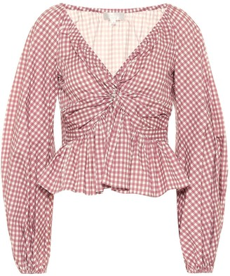 Caroline Constas Onira gingham cotton top