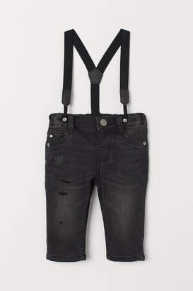 H&M Jeans with Suspenders - Black