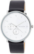 Skagen Men's Hald Leather Strap Watch