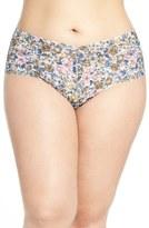 Hanky Panky 'Vintage Blossom' Retro Thong (Plus Size)