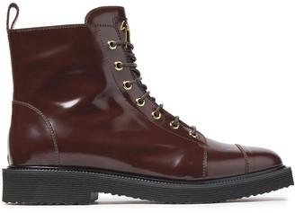 Giuseppe Zanotti Hilary Glossed-leather Combat Boots