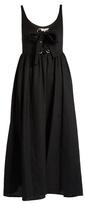 Mara Hoffman Lace-up midi linen dress