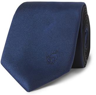 Lanvin 6cm Logo-Embroidered Silk-Satin Tie