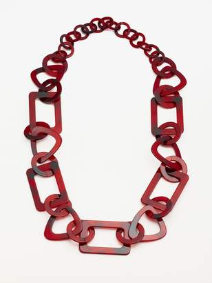 John Lewis & Partners Resin Chain Statement Necklace