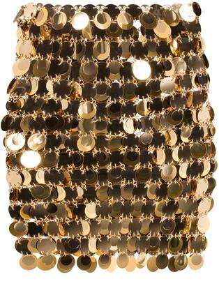 Paco Rabanne Sequin-Embellished Mini Skirt