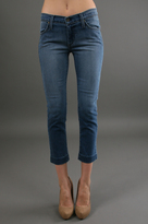 James Jeans Holly Kick Flare Crop in H2O