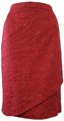 Valentino Red Red Skirt for Women Vintage