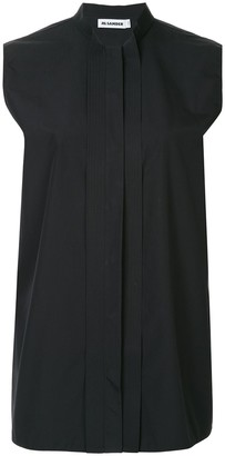 Jil Sander Sleeveless Band Collar Shirt